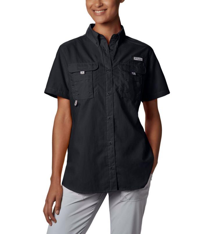 Womens Bahama™ SS | 010 | M Women's PFG Bahama™ Short Sleeve Shirt, Black, a1