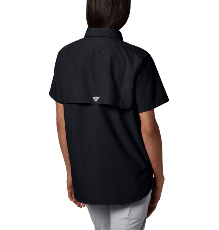 Womens Bahama™ SS | 010 | M Women's PFG Bahama™ Short Sleeve Shirt, Black, a2