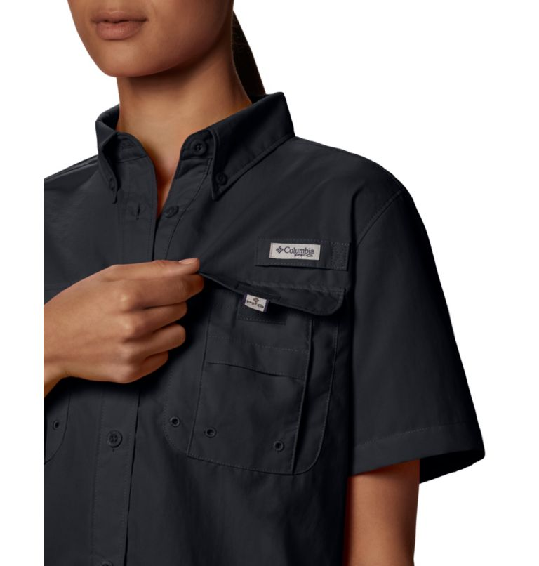 Womens Bahama™ SS | 010 | M Women's PFG Bahama™ Short Sleeve Shirt, Black, a4