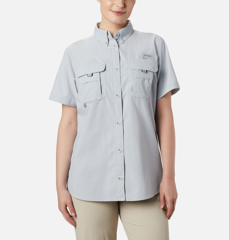Womens Bahama™ SS | 031 | M Women's PFG Bahama™ Short Sleeve Shirt, Cirrus Grey, front
