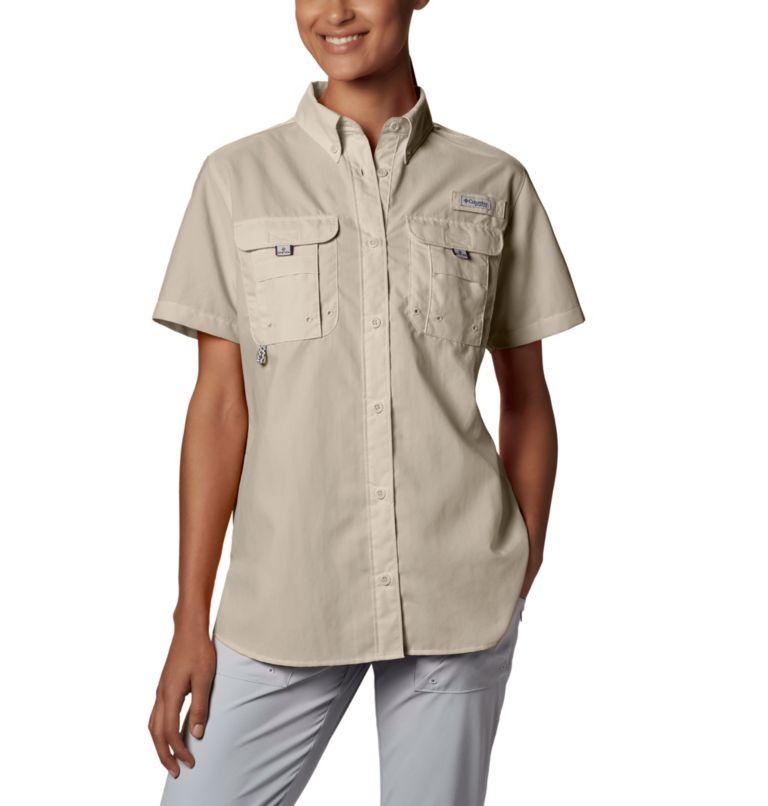 Womens Bahama™ SS | 160 | M Women's PFG Bahama™ Short Sleeve Shirt, Fossil, front