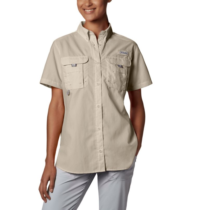 Womens Bahama™ SS | 160 | XL Women's PFG Bahama™ Short Sleeve Shirt, Fossil, front
