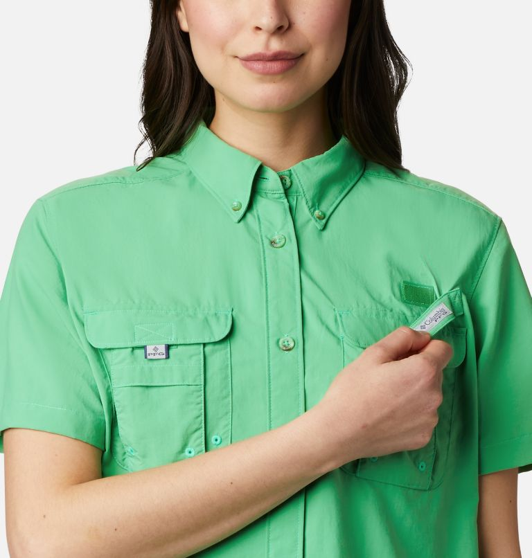 Womens Bahama™ SS | 322 | M Women's PFG Bahama™ Short Sleeve Shirt, Emerald City, a2
