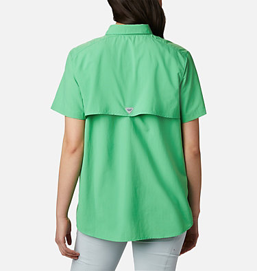Women's PFG Bahama™ Short Sleeve Shirt Womens Bahama™ SS | 475 | XS, Emerald City, back