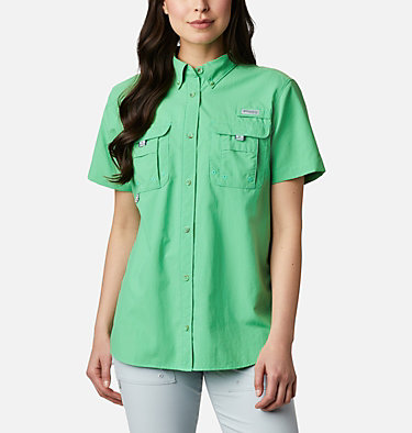 Women's PFG Bahama™ Short Sleeve Shirt Womens Bahama™ SS | 475 | XS, Emerald City, front