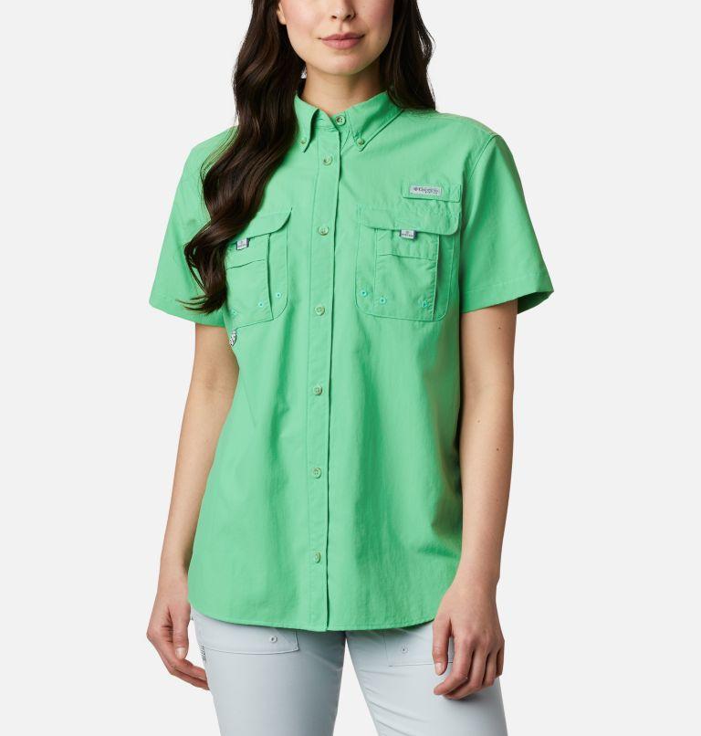 Womens Bahama™ SS | 322 | S Women's PFG Bahama™ Short Sleeve Shirt, Emerald City, front