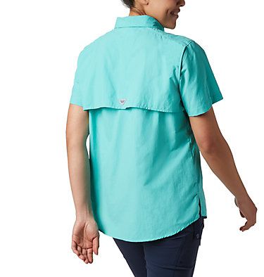 Women's PFG Bahama™ Short Sleeve Shirt Womens Bahama™ SS | 475 | XS, Dolphin, back