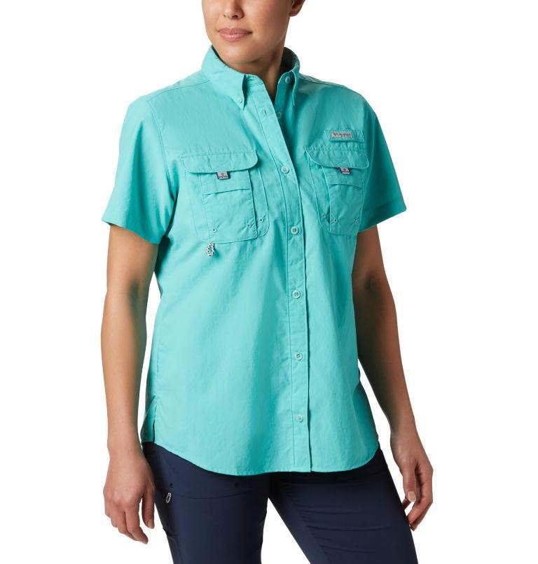 Womens Bahama™ SS | 356 | S Women's PFG Bahama™ Short Sleeve Shirt, Dolphin, front