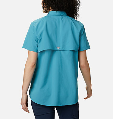 Women's PFG Bahama™ Short Sleeve Shirt Womens Bahama™ SS | 475 | XS, Shasta, back