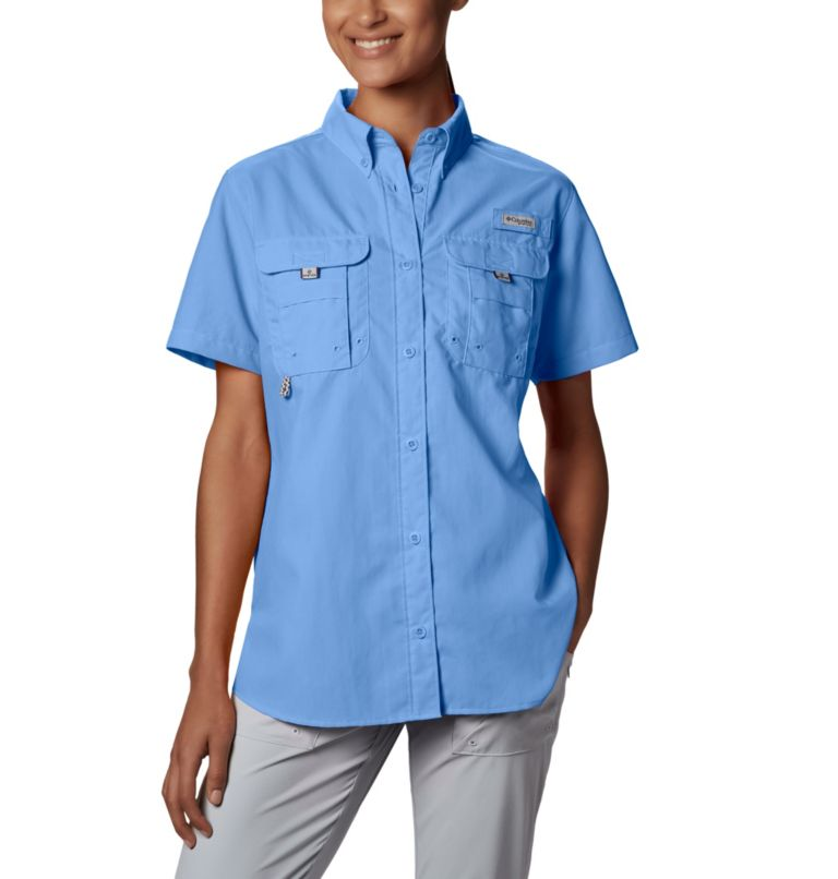 Womens Bahama™ SS   450   XS Women's PFG Bahama™ Short Sleeve Shirt, White Cap, front