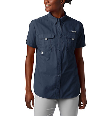 Women's PFG Bahama™ Short Sleeve Shirt Womens Bahama™ SS | 475 | XS, Collegiate Navy, front