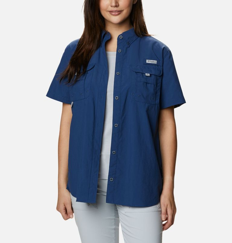 Womens Bahama™ SS | 469 | M Women's PFG Bahama™ Short Sleeve Shirt, Carbon, front