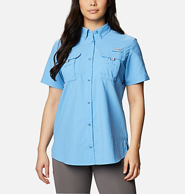Women's PFG Bahama™ Short Sleeve Shirt Womens Bahama™ SS | 475 | XS, Yacht, front