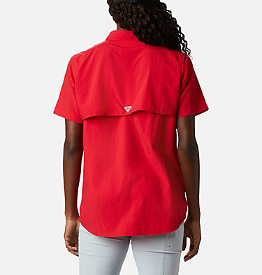 Women's PFG Bahama™ Short Sleeve Shirt Womens Bahama™ SS | 475 | XS, Red Lily, back