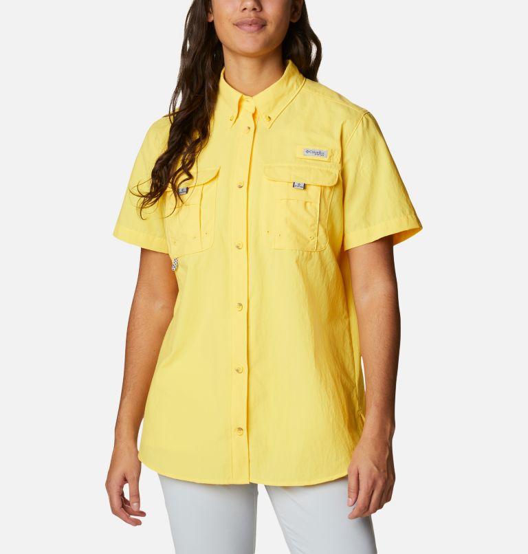 Womens Bahama™ SS   771   M Women's PFG Bahama™ Short Sleeve Shirt, Sun Glow, front