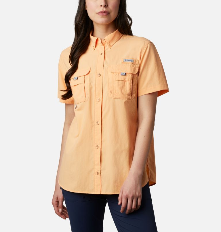 Womens Bahama™ SS | 856 | S Women's PFG Bahama™ Short Sleeve Shirt, Light Juice, front