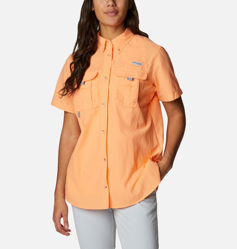 Womens Bahama™ SS | 873 | S Women's PFG Bahama™ Short Sleeve Shirt, Bright Nectar, front