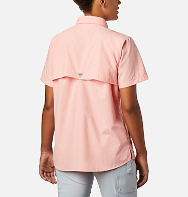 Women's PFG Bahama™ Short Sleeve Shirt Womens Bahama™ SS | 475 | XS, Tiki Pink, back