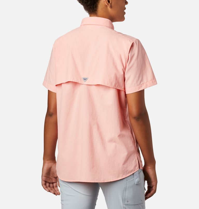 Womens Bahama™ SS | 884 | M Women's PFG Bahama™ Short Sleeve Shirt, Tiki Pink, back