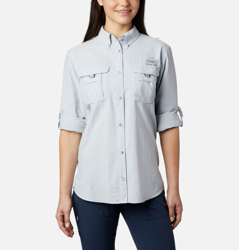 Womens Bahama™ LS | 031 | M Women's PFG Bahama™ Long Sleeve Shirt, Cirrus Grey, a3