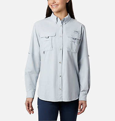 Women's PFG Bahama™ Long Sleeve Shirt Womens Bahama™ LS | 856 | M, Cirrus Grey, front