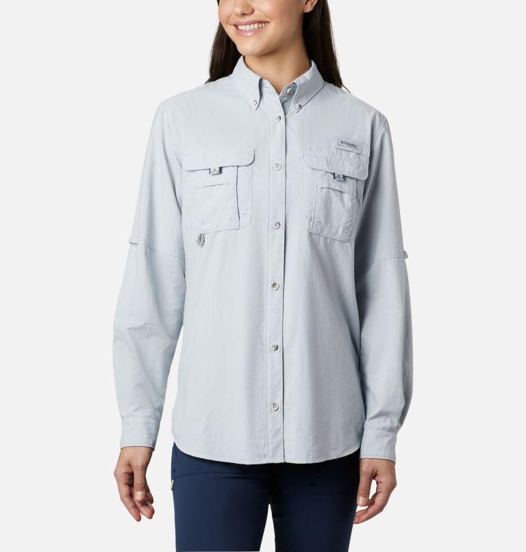 Womens Bahama™ LS | 031 | M Women's PFG Bahama™ Long Sleeve Shirt, Cirrus Grey, front