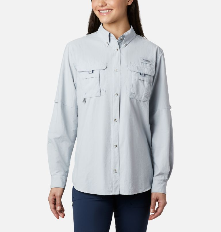 Womens Bahama™ LS | 031 | XS Women's PFG Bahama™ Long Sleeve Shirt, Cirrus Grey, front