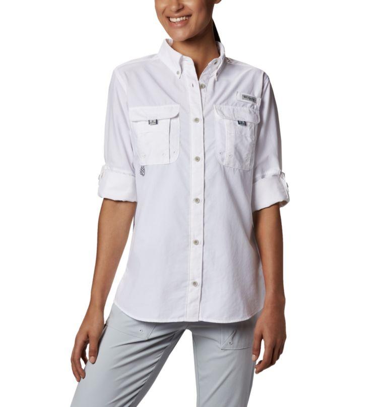 Womens Bahama™ LS | 100 | L Women's PFG Bahama™ Long Sleeve Shirt, White, a4