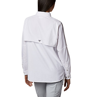 Women's PFG Bahama™ Long Sleeve Shirt Womens Bahama™ LS | 100 | M, White, back