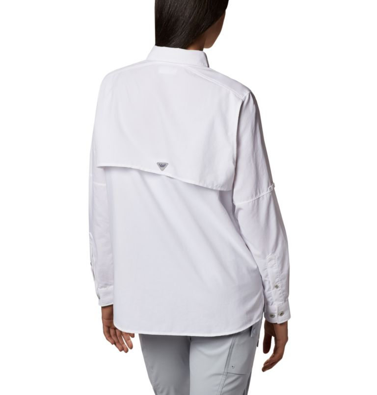 Womens Bahama™ LS | 100 | L Women's PFG Bahama™ Long Sleeve Shirt, White, back