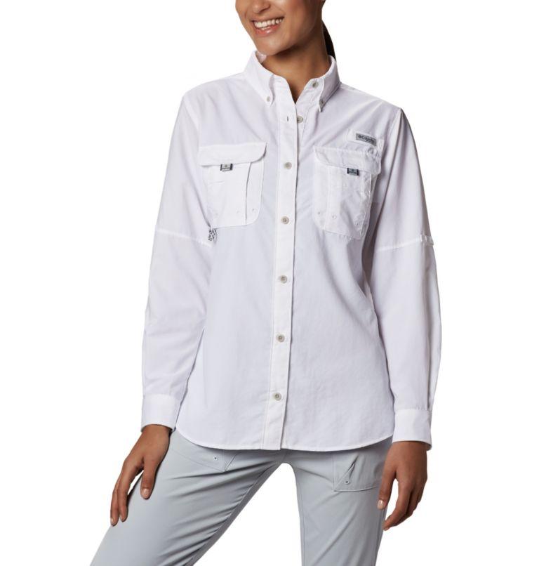Womens Bahama™ LS | 100 | L Women's PFG Bahama™ Long Sleeve Shirt, White, front