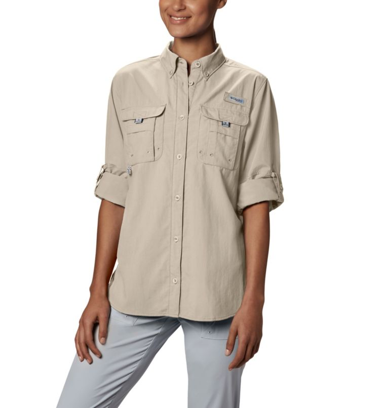 Womens Bahama™ LS | 160 | XS Women's PFG Bahama™ Long Sleeve Shirt, Fossil, a1