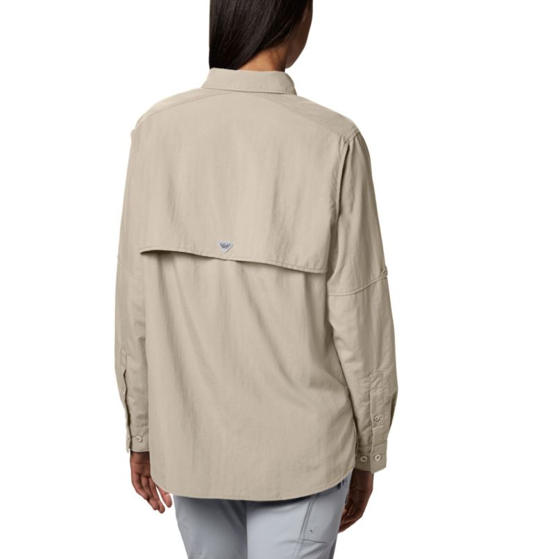 Womens Bahama™ LS | 160 | XS Women's PFG Bahama™ Long Sleeve Shirt, Fossil, back