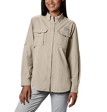 Women's PFG Bahama™ Long Sleeve Shirt Womens Bahama™ LS | 856 | M, Fossil, front
