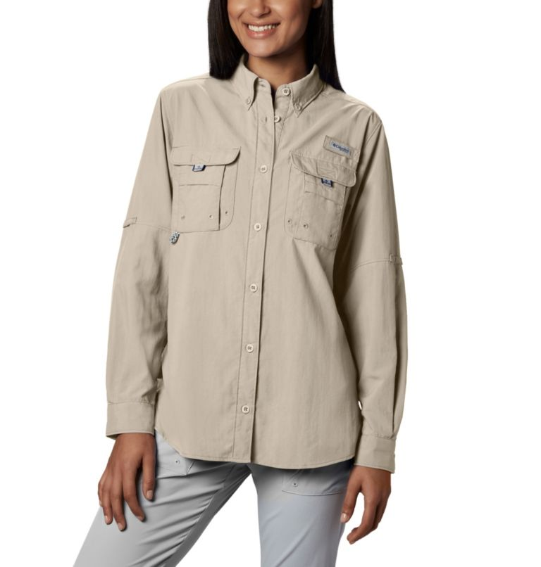 Womens Bahama™ LS | 160 | S Women's PFG Bahama™ Long Sleeve Shirt, Fossil, front