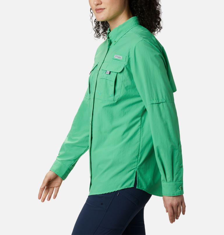 Womens Bahama™ LS | 322 | XS Women's PFG Bahama™ Long Sleeve Shirt, Emerald City, a1