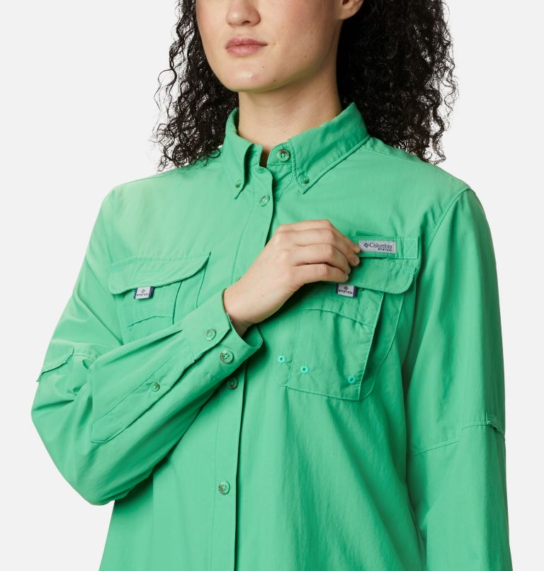 Womens Bahama™ LS | 322 | XS Women's PFG Bahama™ Long Sleeve Shirt, Emerald City, a4