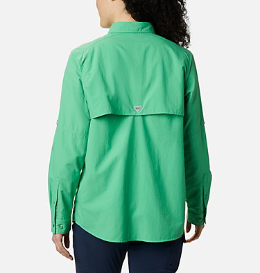 Women's PFG Bahama™ Long Sleeve Shirt Womens Bahama™ LS | 856 | M, Emerald City, back