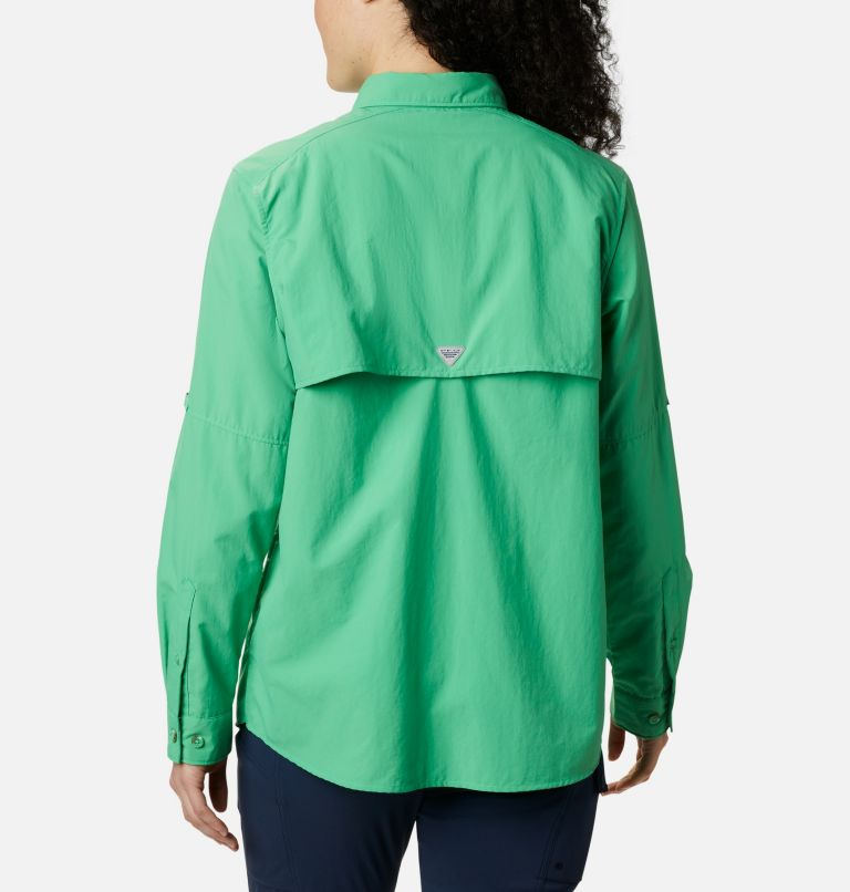 Womens Bahama™ LS | 322 | XS Women's PFG Bahama™ Long Sleeve Shirt, Emerald City, back
