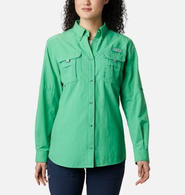 Columbia PFG Womens Medium Bahama Red S//S Omni Shade Button Casual Shirt NWT