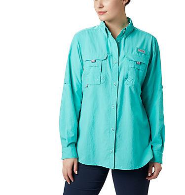 Women's PFG Bahama™ Long Sleeve Shirt Womens Bahama™ LS | 856 | M, Dolphin, front