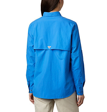Women's PFG Bahama™ Long Sleeve Shirt Womens Bahama™ LS | 856 | M, Stormy Blue, back