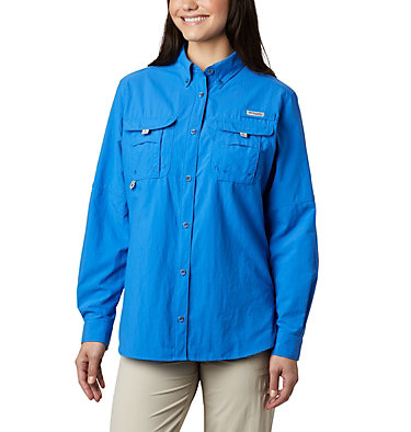 Women's PFG Bahama™ Long Sleeve Shirt Womens Bahama™ LS | 856 | M, Stormy Blue, front