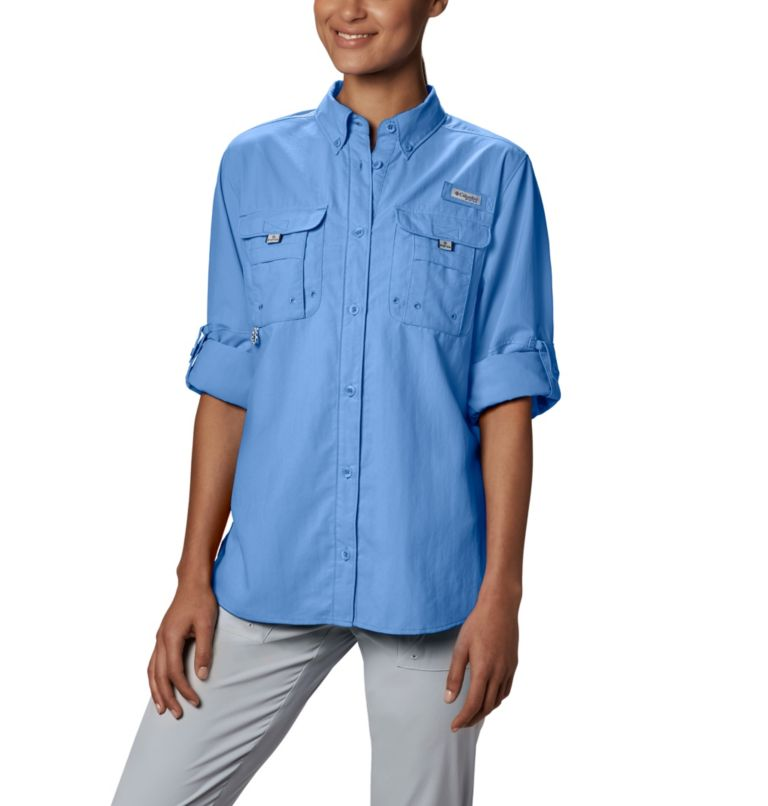 Womens Bahama™ LS | 450 | S Women's PFG Bahama™ Long Sleeve Shirt, White Cap, a4