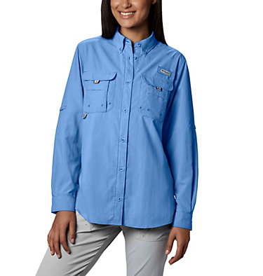 Women's PFG Bahama™ Long Sleeve Shirt Womens Bahama™ LS | 856 | M, White Cap, front
