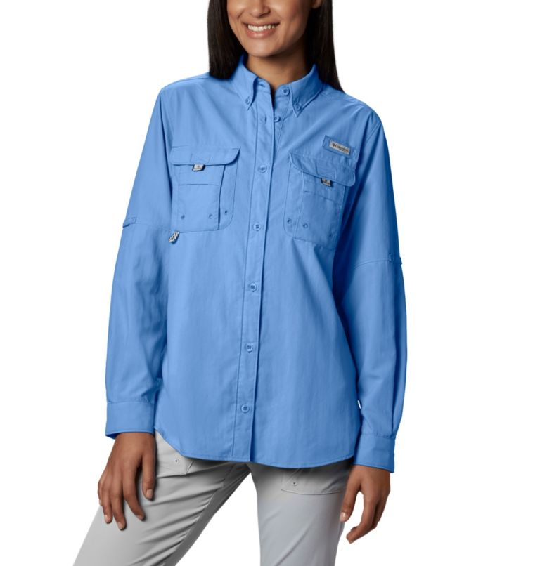 Womens Bahama™ LS | 450 | S Women's PFG Bahama™ Long Sleeve Shirt, White Cap, front
