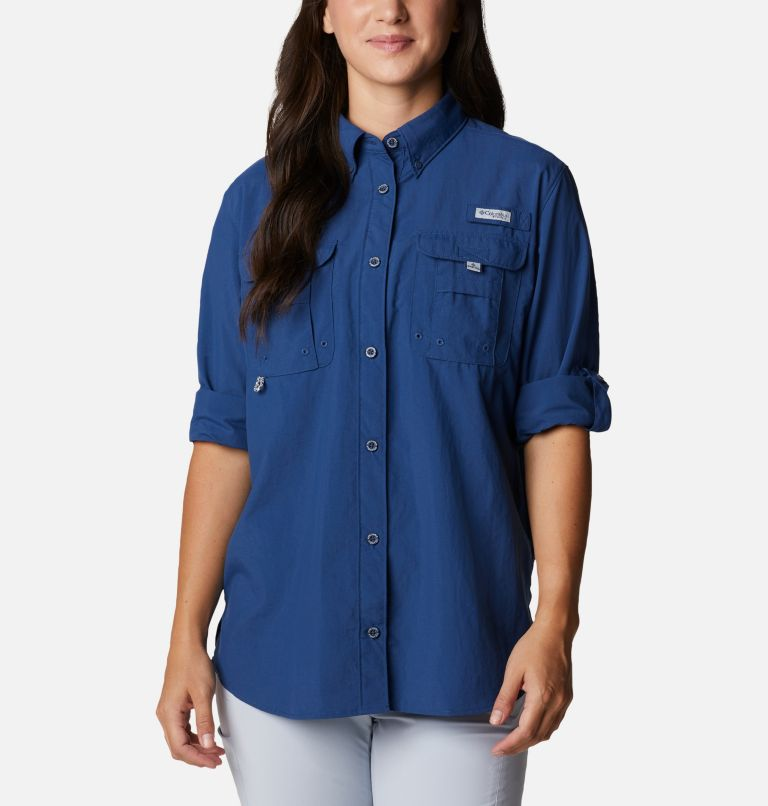 Womens Bahama™ LS | 469 | M Women's PFG Bahama™ Long Sleeve Shirt, Carbon, a4