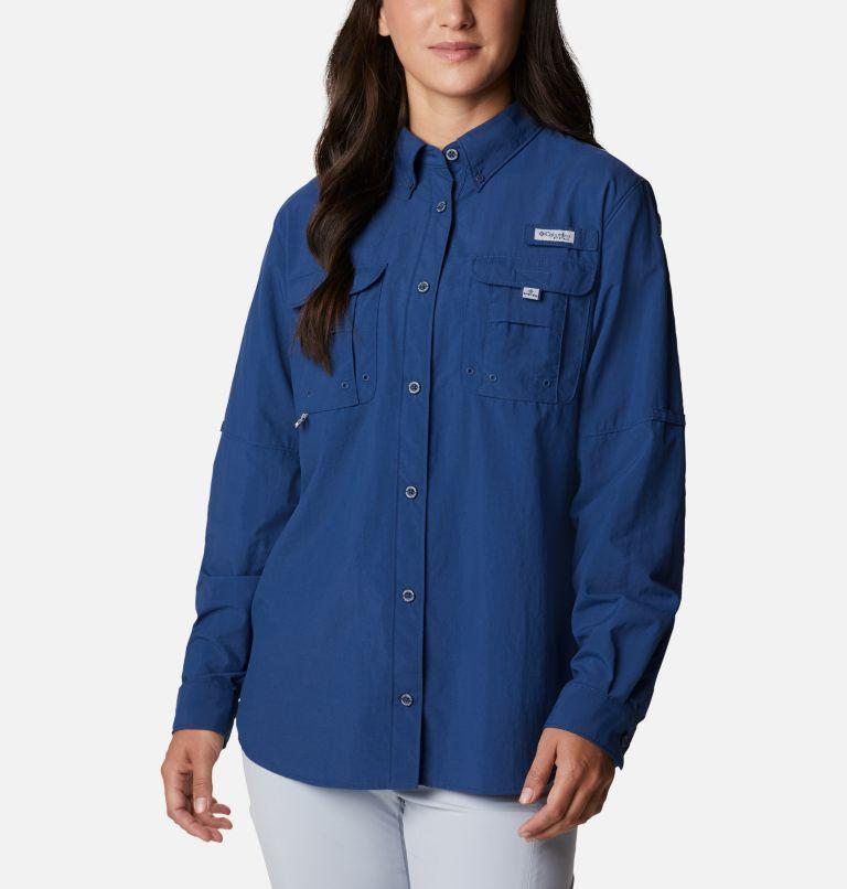 Womens Bahama™ LS | 469 | M Women's PFG Bahama™ Long Sleeve Shirt, Carbon, front