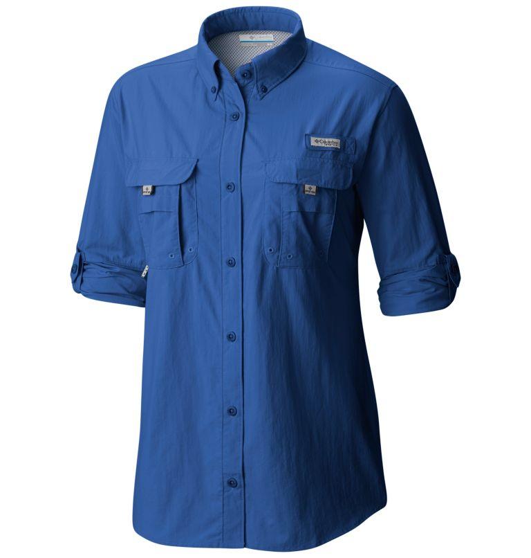Womens Bahama™ LS   487   L Women's PFG Bahama™ Long Sleeve Shirt, Vivid Blue, a1