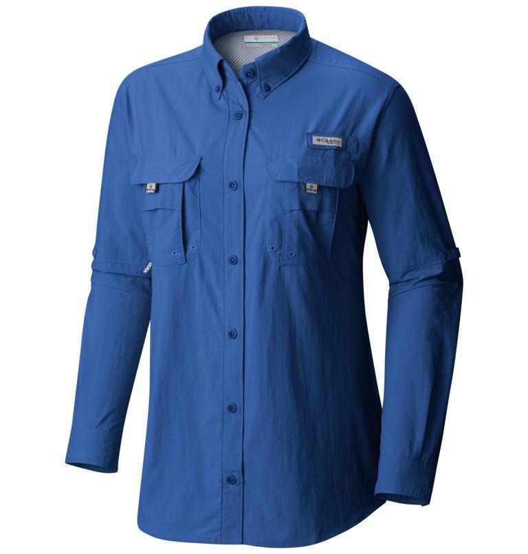 Womens Bahama™ LS   487   L Women's PFG Bahama™ Long Sleeve Shirt, Vivid Blue, front